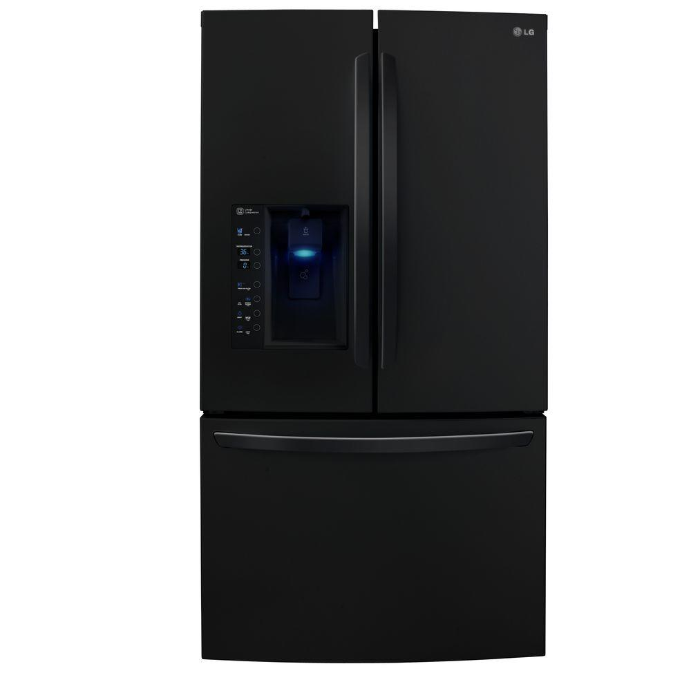 LG Electronics 30.7 cu. ft. French Door Refrigerator in Black, ENERGY STAR