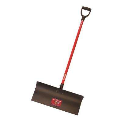 24 in. Steel Snow Pusher with Fiberglass D-Grip Handle