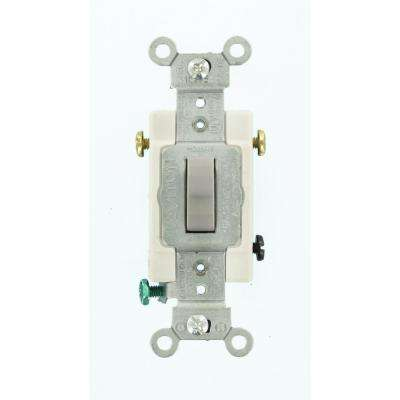 15 Amp Commercial Grade 3-Way Toggle Switch, Gray