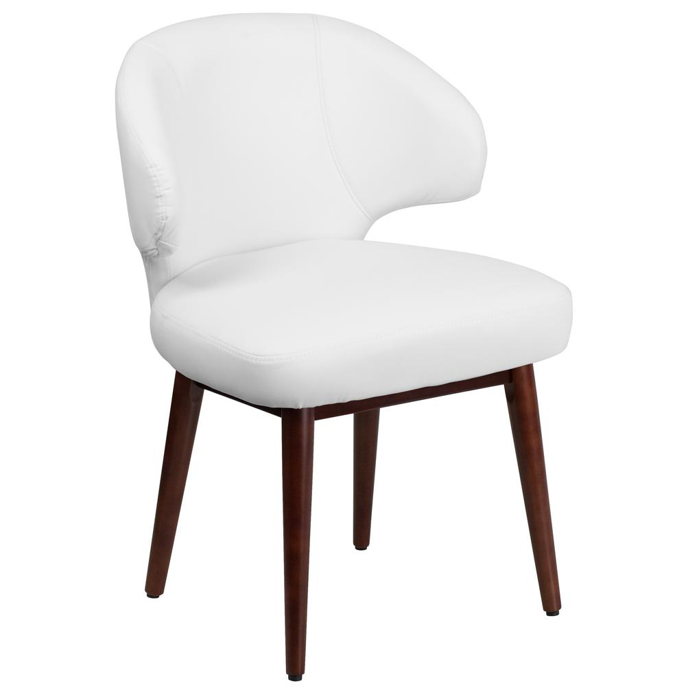 flash furniture comfort back series white leather reception lounge