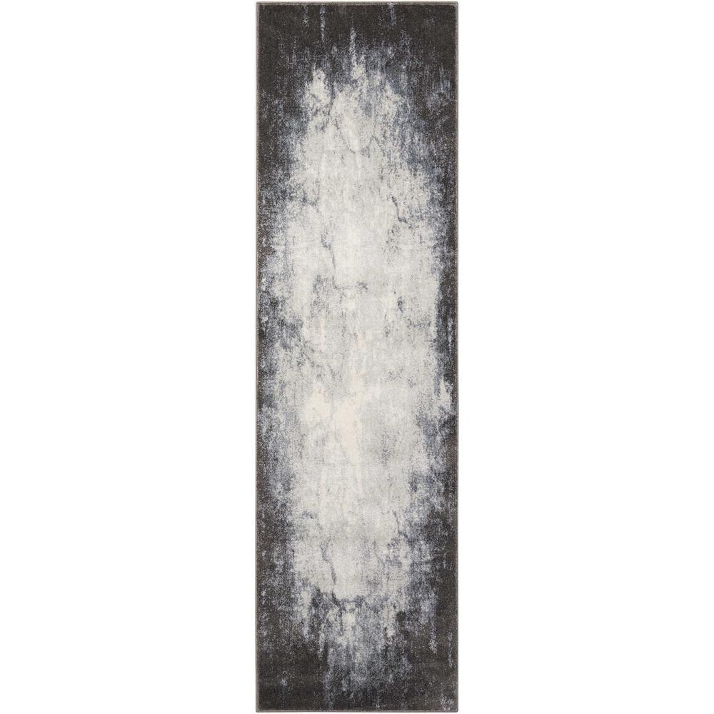 Maxell Ivory/Grey 2 ft. x 8 ft. Runner Rug