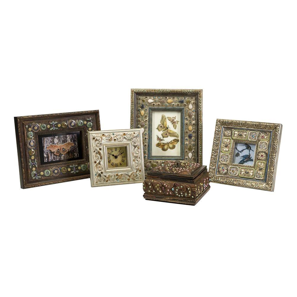Filament Design Lenor 1-Opening 5 in. x 5 in. Multicolored Picture Frames (Set of 5)