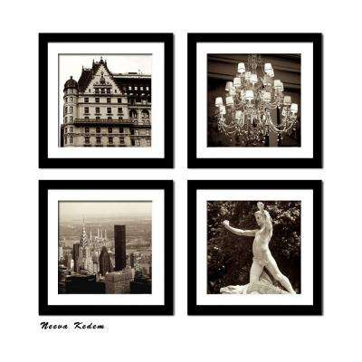 "Four 10 in. x 10 in. ""New York Plaza"" by Neeva Kedem Framed Printed Wall Art"
