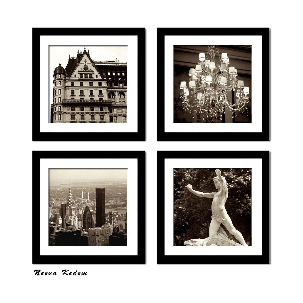 "Four 10 in. x 10 in. ""New York Plaza"" by Neeva"