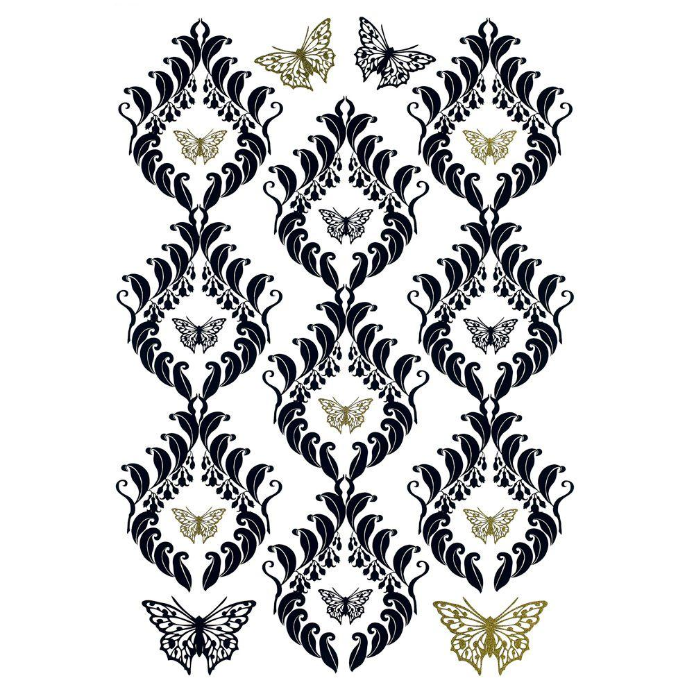 Freestyle 19 in. x 27 in. Papillon Wall Decal