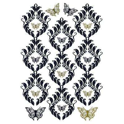 19 in. x 27 in. Papillon Wall Decal