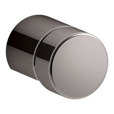 0.75 in. Vibrant Titanium Composed Cabinet Knob