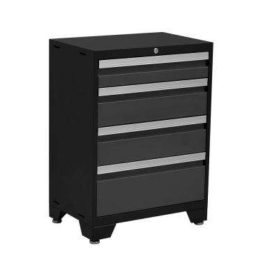 Bold 3 Series 35 in. H x 24 in. W x 16 in. D 24-Gauge Welded Steel 4-Drawer Tool Cabinet in Gray