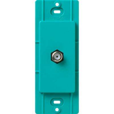 Satin Colors Coaxial Cable Jack - Turquoise