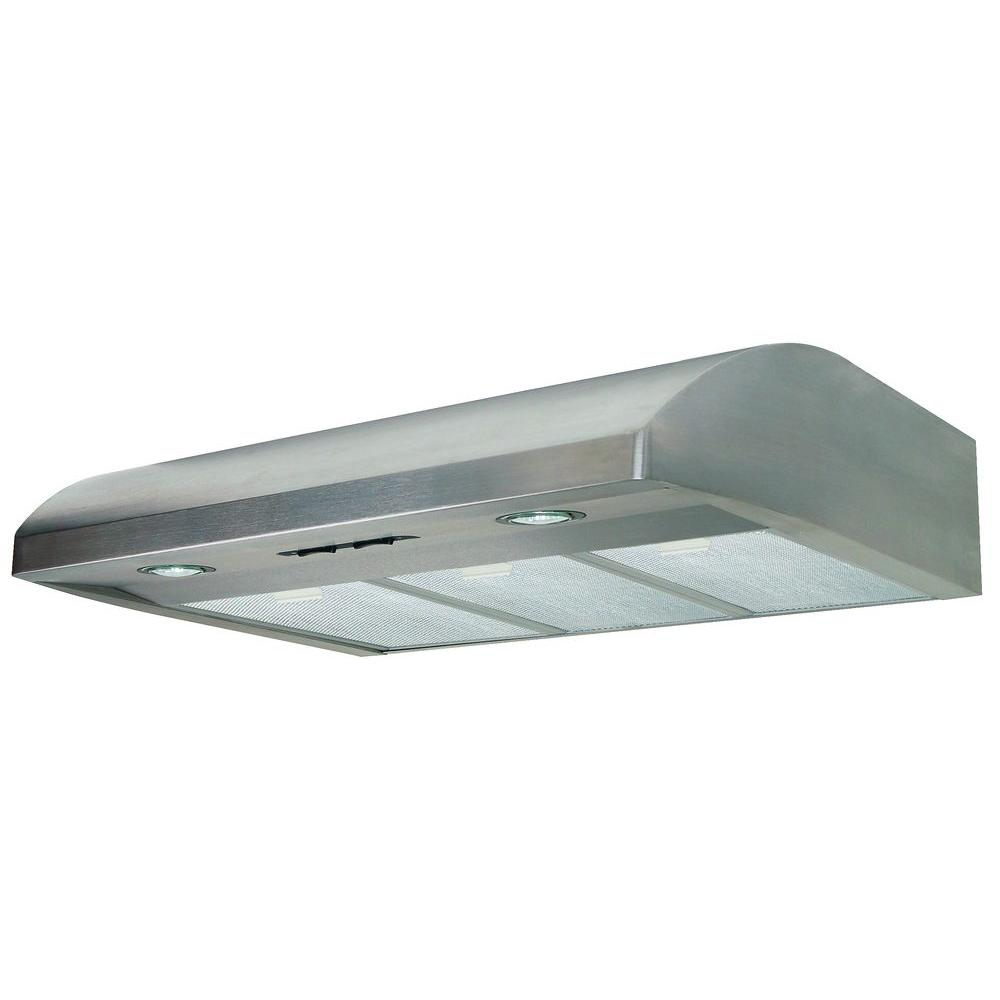 Air King Essence 36 In. Under Cabinet Convertible Range Hood With Light In  Stainless Steel