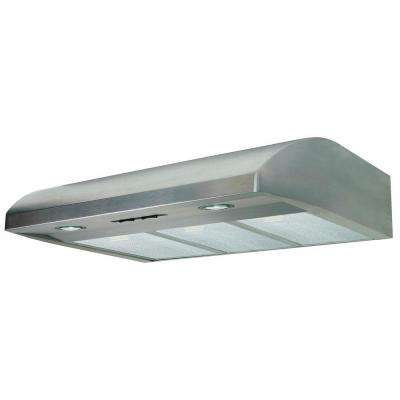 Essence 36 in. Under Cabinet Convertible Range Hood with Light in Stainless Steel