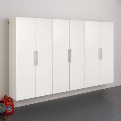 HangUps 72 in. H x 108 in. W x 20 in. D White Wall Mounted Storage Cabinet Set E