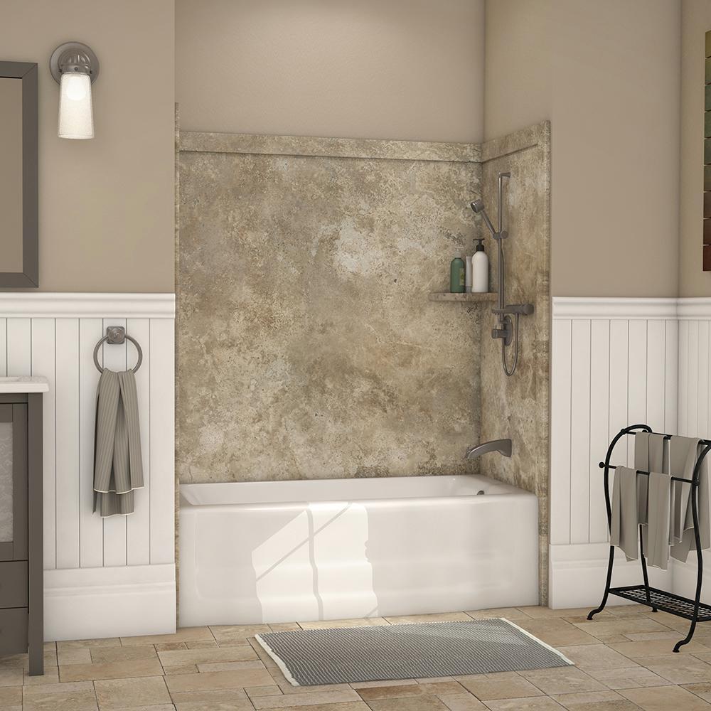 Brown - Bathtub Walls & Surrounds - Bathtubs - The Home Depot