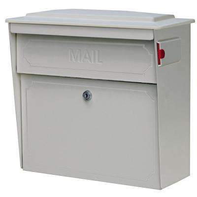 Townhouse Locking Wall-Mount Mailbox with High Security Patented Lock, White