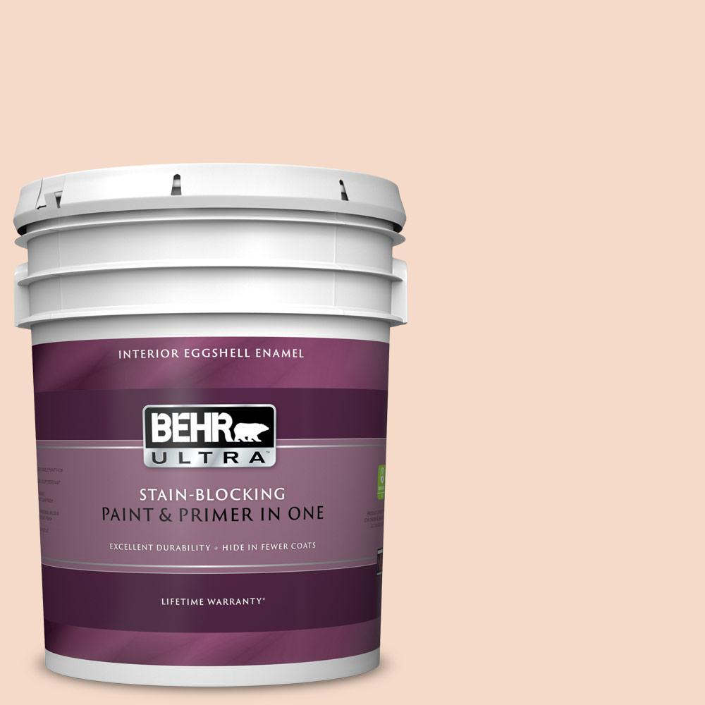 Behr Ultra 5 Gal M210 2 Paper Heart Eggshell Enamel Interior Paint And Primer In One 275005 The Home Depot