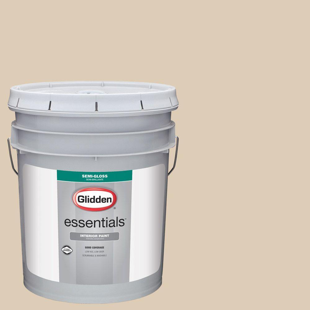 5 gal. #HDGWN32 Water Chestnut Semi-Gloss Interior Paint