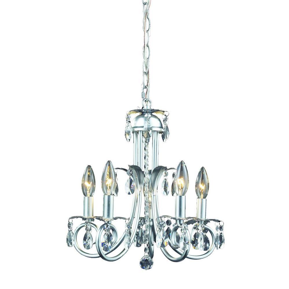 Lawrence 5-Light Silver Incandescent Ceiling Chandelier