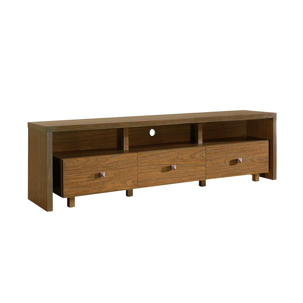 Techni Mobili Hickory Elegant Tv Stand For Tv S Up To 75