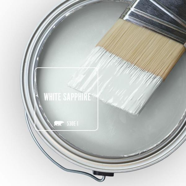 Reviews For Behr Marquee 1 Gal 530e 1 White Sapphire Flat Exterior Paint Primer 445001 The Home Depot