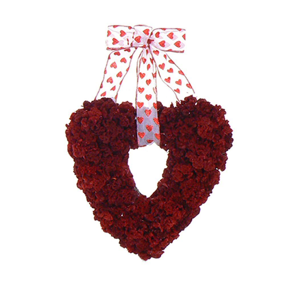The Christmas Tree Company My Valentine 14 in. Dried Floral Wreath-DISCONTINUED