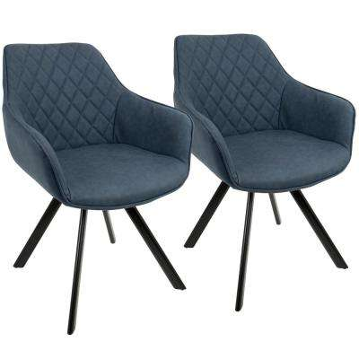 Outlaw Industrial Blue Dining/Accent Chair (Set of 2)