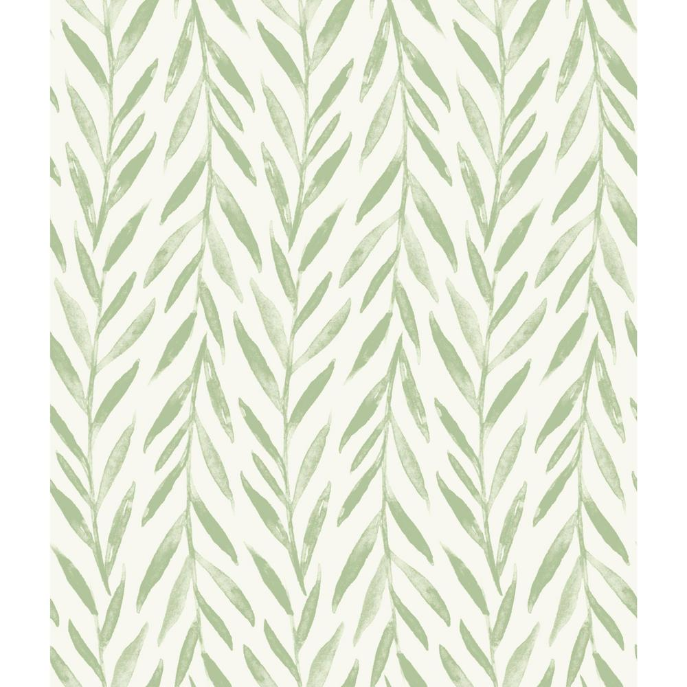 MagnoliaHomebyJoannaGaines Magnolia Home by Joanna Gaines 34 sq ft Magnolia Home Willow Peel and Stick Wallpaper, Green