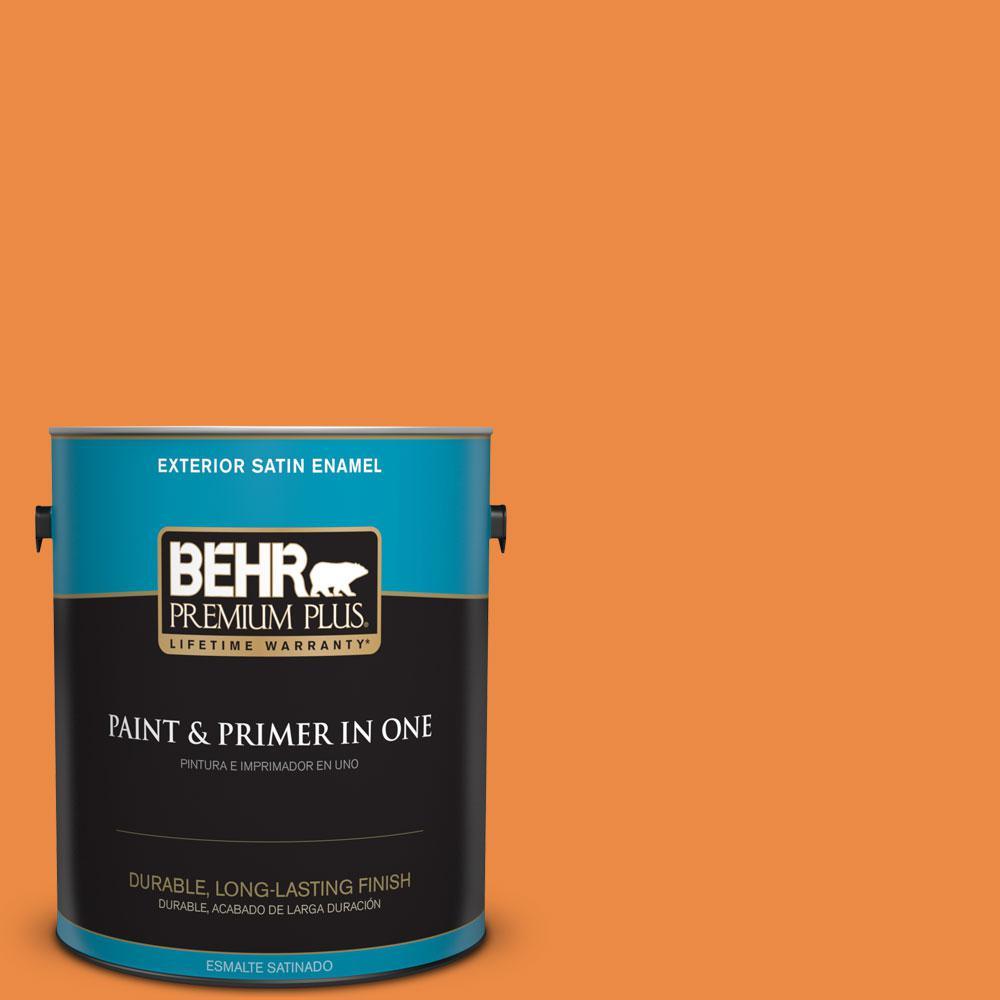 BEHR Premium Plus 1-gal. #P230-7 Acapulco Sun Satin Enamel Exterior Paint