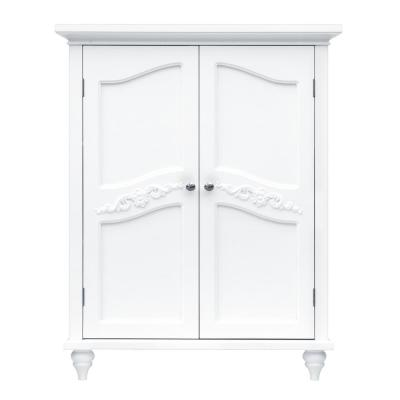 Venice 34 in. H x 27 in. W x 13-3/4 in. D Bathroom Linen Storage Floor Cabinet in White