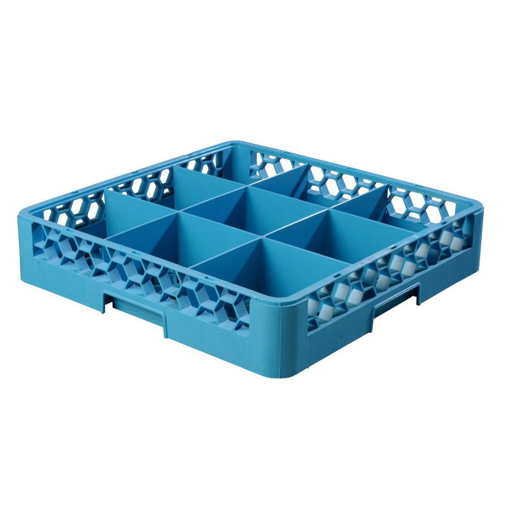 19.75x19.75 in. 9-Compartment Dishwashing Rack (for Glass 5.56 in. Diameter,