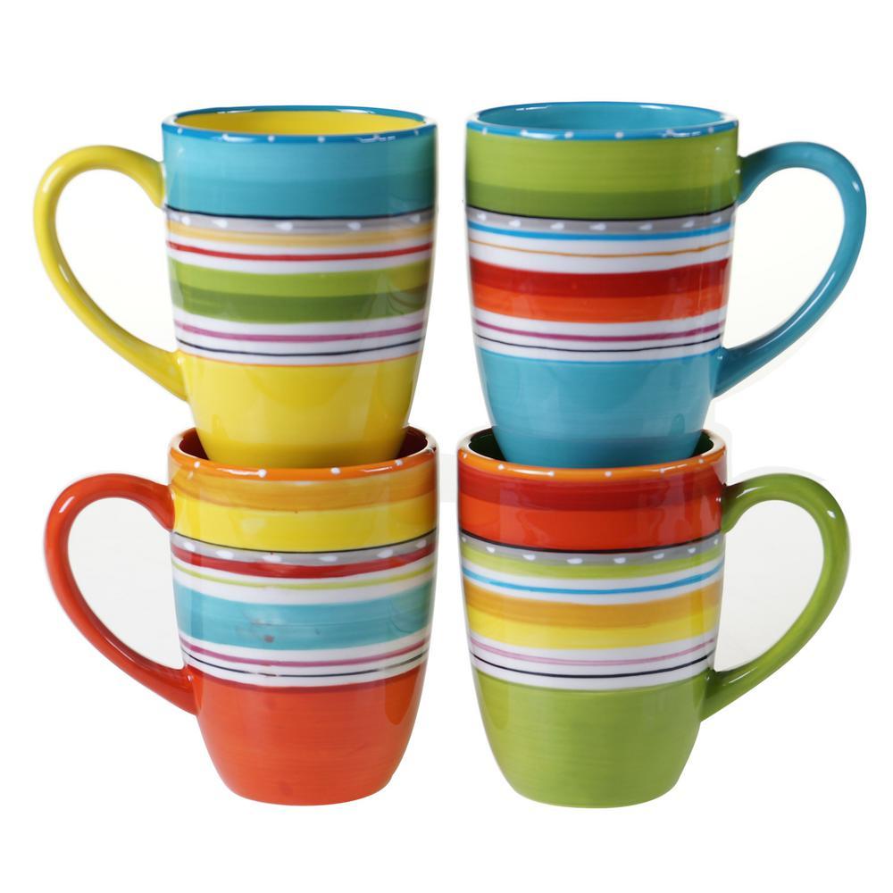 Mariachi Multi-Colored 20 oz. Mug Set (Set of 4)