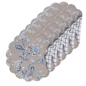Annabelle Blue Round Placemat (Set of 6)