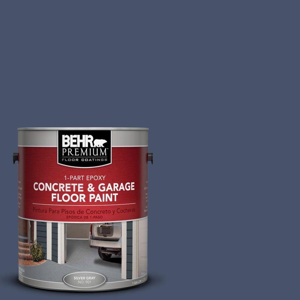 BEHR Premium 1 gal. #PFC-60 Deep Galaxy 1-Part Epoxy Concrete and Garage Floor Paint