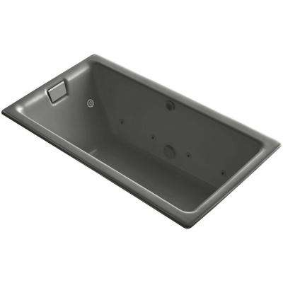 Tea-for-Two 5.5 ft. Effervescence Walk-In Whirlpool and Air Bath Tub with Chromatherapy in Cashmere
