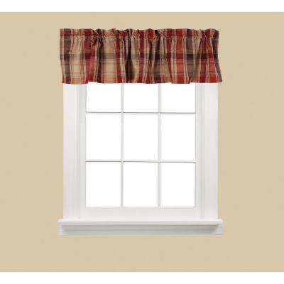 Cooper 13 in. L Polyester Valance in Red