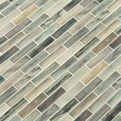 Lazio Brick 11.81 in. x 11.81in. x 4mm Glass Mesh-Mounted Mosaic Tile (0.97 sq. ft.)
