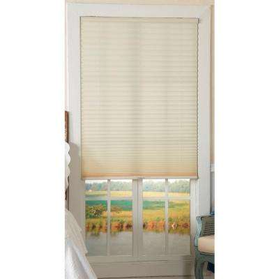 Ecru 1 in. Light Filtering Cordless Pleated Shade - 23 in. W x 64 in. L (Actual Size: 23 in. W x 64 in. L )