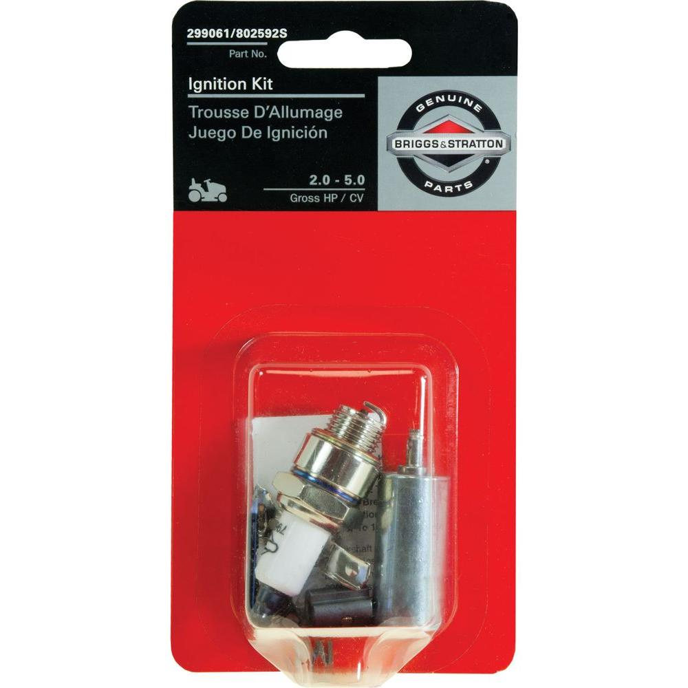Briggs Stratton Starter Solenoid 691656 The Home Depot 10 5 Hp Engine Parts Diagram Wiring Ignition Kit With Spark Plug