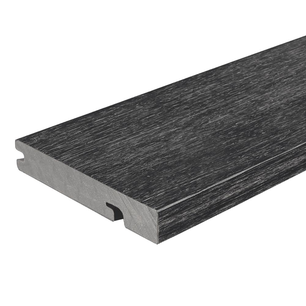 NewTechWood UltraShield Naturale Columbus Series 1 in. x 6 in. x 16 ft. Hawaiian Charcoal Solid Composite Decking Board