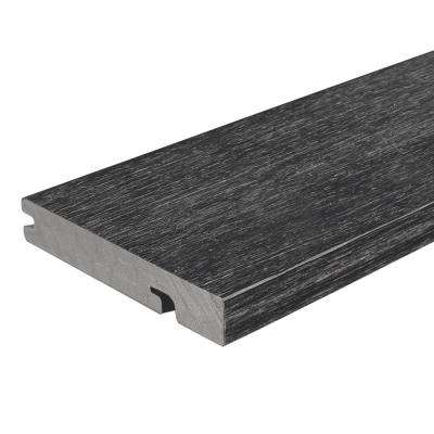 UltraShield Naturale Columbus Series 1 in. x 6 in. x 16 ft. Hawaiian Charcoal Solid Composite Decking Board