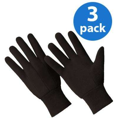 Cotton/Poly All Purpose Brown Jersey 3-Pair Value Pack