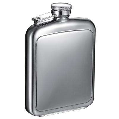 Vitak Polished and Brushed Metal 8 oz. Liquor Flask