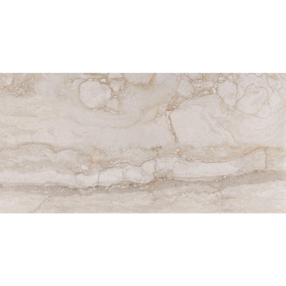 Msi Carrara 12 In X 24 Glazed Polished Porcelain Floor And Wall Tile 16 Sq Ft Case Nhdcarr1224p The Home Depot