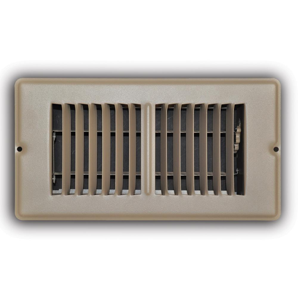 Everbilt 4 in. x 8 in. Brown Mobile Home Floor Diffuser