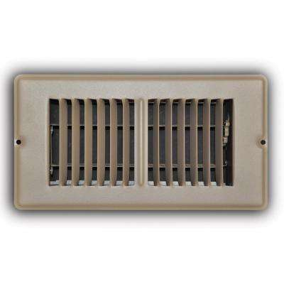 4 in. x 8 in. Brown Mobile Home Floor Diffuser