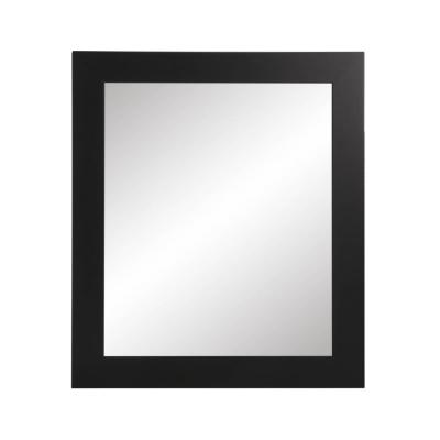 Large Rectangle Black Hooks Modern Mirror (41 in. H x 32 in. W)