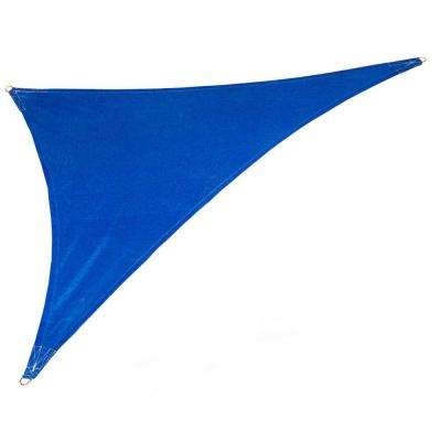 15 ft. x 19 ft. x 24 ft. Cobalt Blue Right Triangle Ultra Shade Sail with Kit