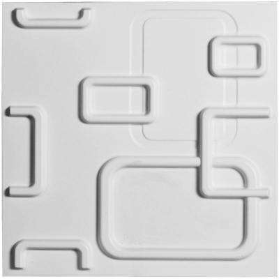 3/8 in. x 11-7/8 in. x 11-7/8 in. PVC White Oslo EnduraWall Decorative 3D Wall Panel