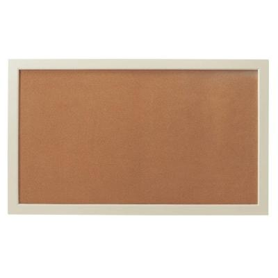 Edinburgh 57 in. W x 34 in. H Modular Cork Board in Ivory