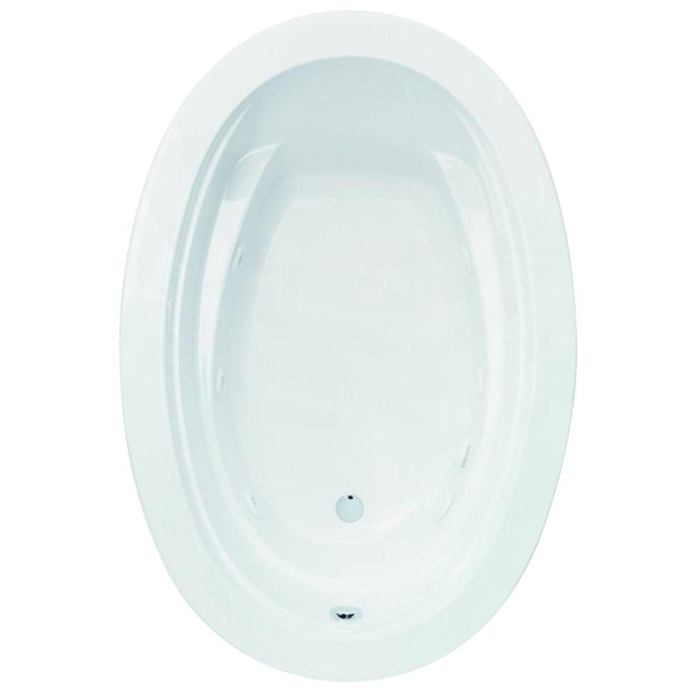Belmont I 5 ft. Reversible Drain Acrylic Whirlpool Bath Tub in