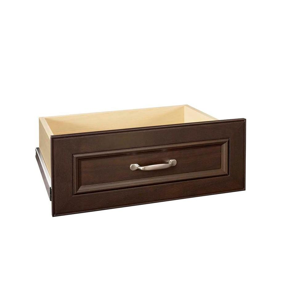 ClosetMaid Impressions 25 in. W x 10 in. H Chocolate Deluxe Drawer Kit